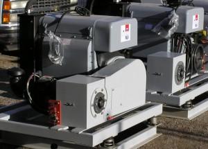 32kva, 400 Hz diesel-powered generators with built-in voltage regulator and electric starter