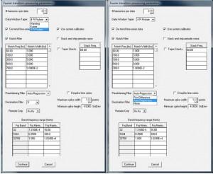 Configure Fourier transform parameters