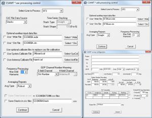 Configure CSAMT data processing controls. Enter and edit metadata describing survey.